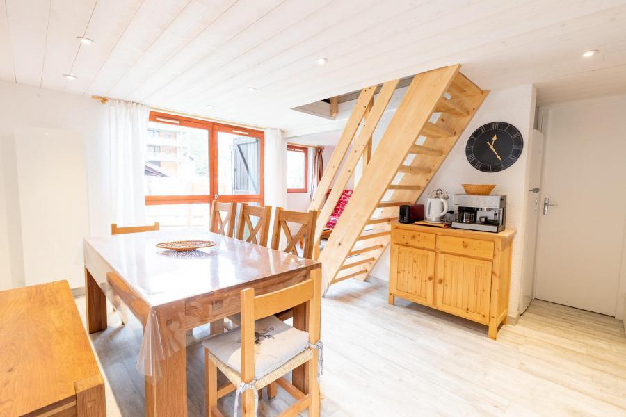 Wakacje w górach Apartament 3 pokojowy z antresolą 10 osób (CH02C) - Résidence la Chapelle - La Norma - Jadalnia