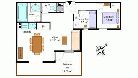 Vacances en montagne Appartement 3 pièces 6 personnes (202) - Résidence la Combe - Aussois