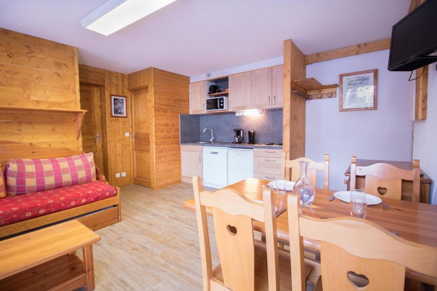 Vakantie in de bergen Appartement 2 kamers 4 personen (206) - Résidence la Combe - Aussois - Eethoek