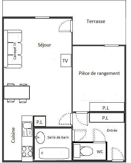 Wakacje w górach Apartament 2 pokojowy 4 osób (102) - Résidence La Corniche - Aussois