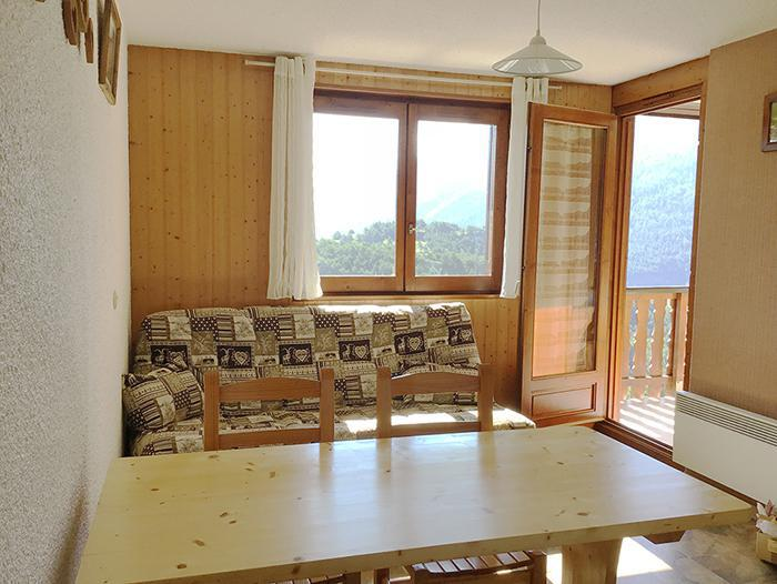 Wakacje w górach Apartament 2 pokojowy 4 osób (19) - Résidence La Corniche - Aussois - Pokój gościnny