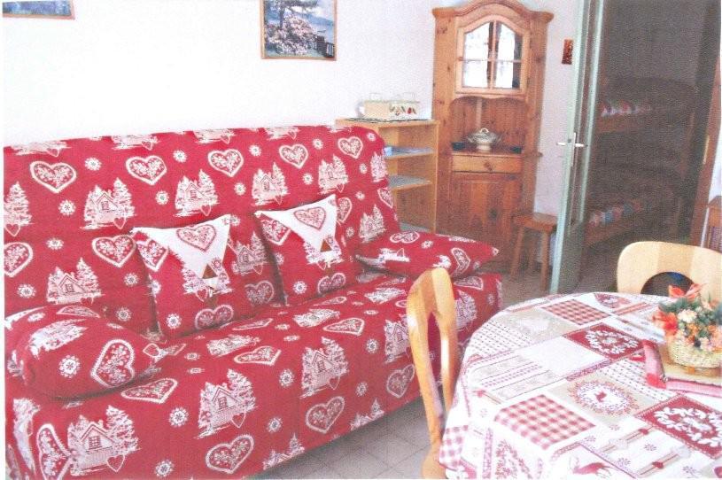 Holiday in mountain resort Studio sleeping corner 4 people - Résidence la Dryade - Le Grand Bornand - Sofa bed