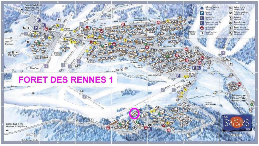 Vacaciones en montaña Résidence la Forêt des Rennes 1 - Les Saisies - Plano