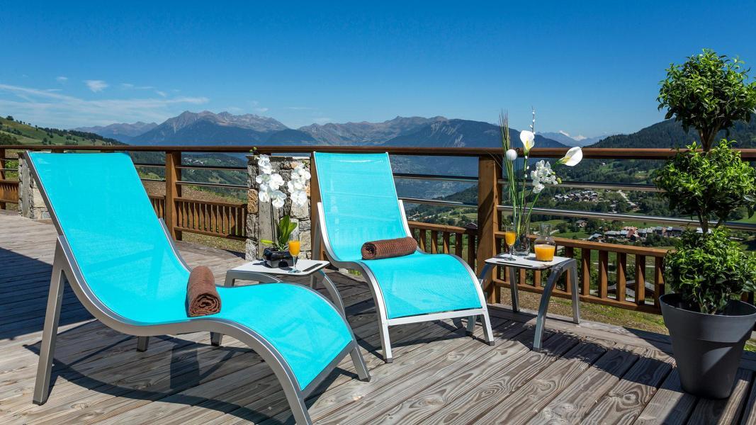Urlaub in den Bergen Résidence la Grange Aux Fées - Valmorel - Draußen im Sommer