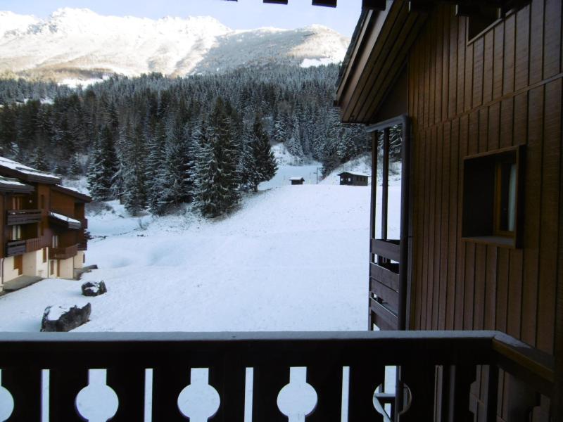 Vacances en montagne Appartement 2 pièces 5 personnes (046) - Résidence la Lauzière Dessous - Valmorel - Balcon