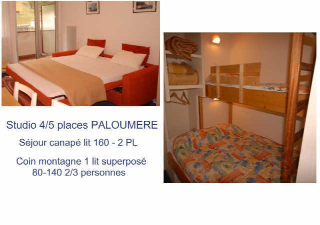Urlaub in den Bergen Studio für 4 Personen (755) - Résidence la Paloumère - Gourette