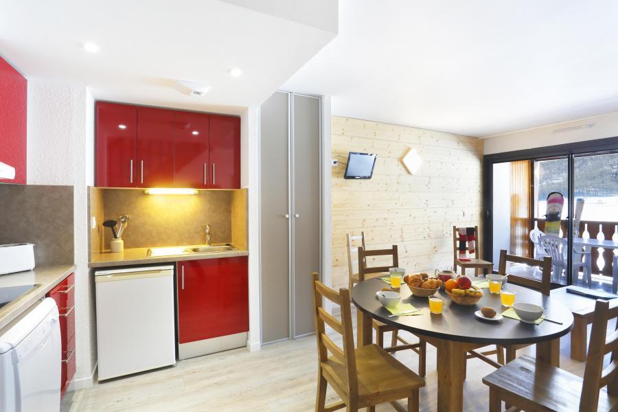 Urlaub in den Bergen Résidence la Soulane - Peyragudes - Offene Küche