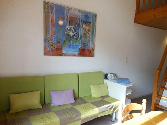 Vacaciones en montaña Estudio mezzanine para 4 personas (55C) - Résidence la Toison Blanche - Châtel - Sofá-cama