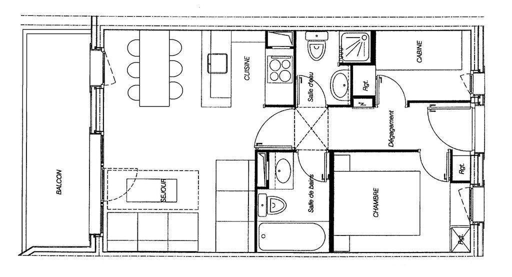 Wakacje w górach Apartament 3 pokojowy 6 osób (GL344) - Résidence la Valériane - Valmorel