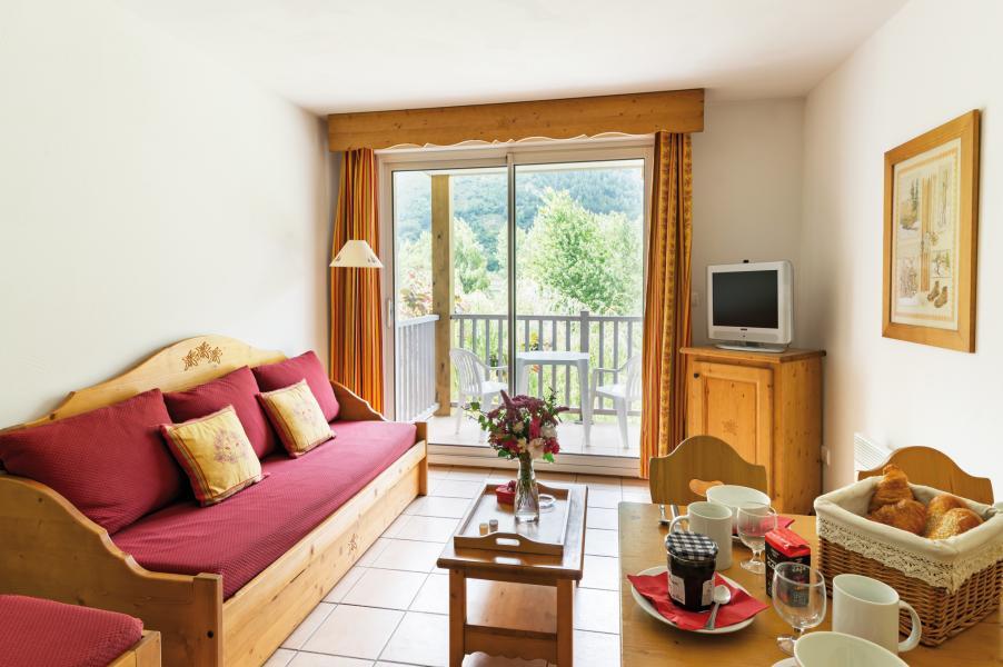 Urlaub in den Bergen Résidence Lagrange l'Ardoisière - Saint Lary Soulan - Kleines Wohnzimmer