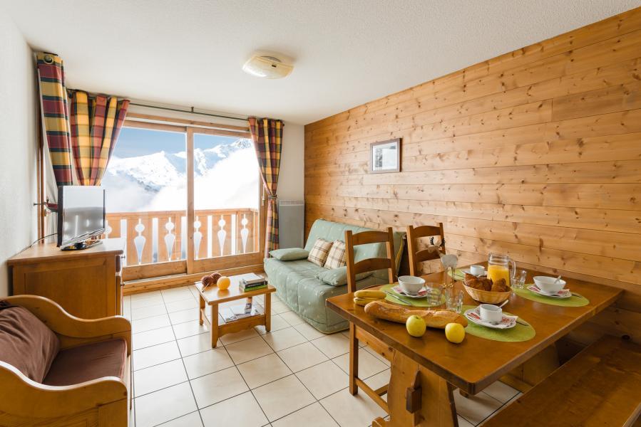 Urlaub in den Bergen Résidence Lagrange l'Arollaie - Peisey-Vallandry - Wohnzimmer