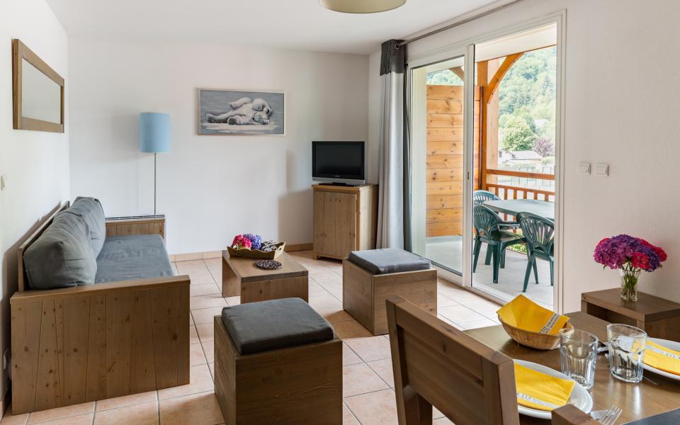 Urlaub in den Bergen Résidence Lagrange le Belvédère - Luchon-Superbagnères - Kleines Wohnzimmer
