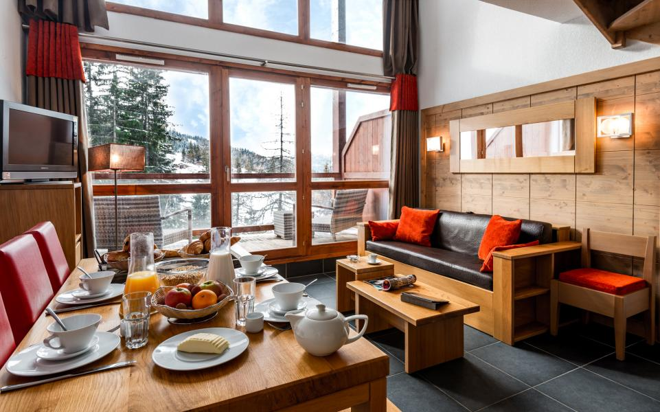 Urlaub in den Bergen Résidence Lagrange le Roc Belle Face - Les Arcs - Esszimmer