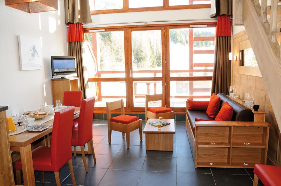 Vakantie in de bergen Résidence Lagrange le Roc Belle Face - Les Arcs - Woonkamer