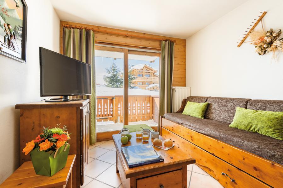 Urlaub in den Bergen Résidence Lagrange le Village des Lapons - Les Saisies - Einfache Klappschlafcouch