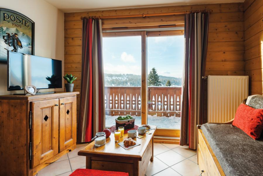Urlaub in den Bergen Résidence Lagrange le Village des Lapons - Les Saisies - Kleines Wohnzimmer