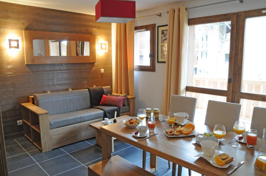Urlaub in den Bergen Résidence Lagrange les Chalets d'Edelweiss - La Plagne - Wohnzimmer