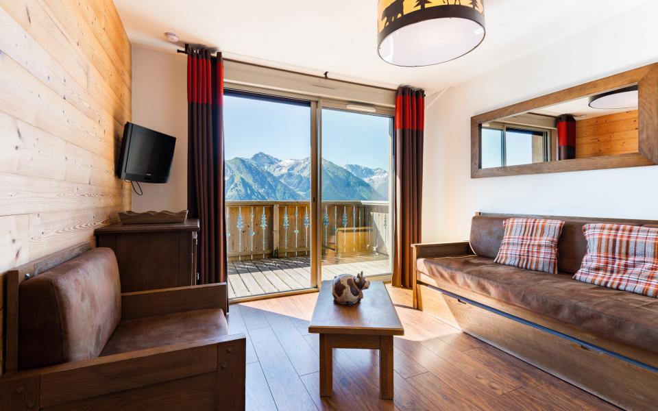 Urlaub in den Bergen Résidence Lagrange les Chalets de l'Adet - Saint Lary Soulan - Wohnzimmer