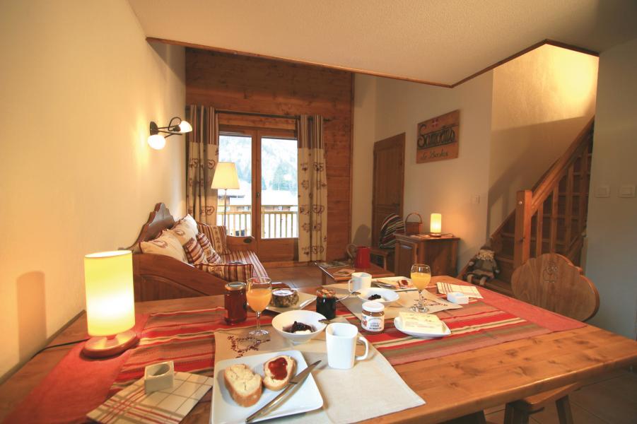 Urlaub in den Bergen Résidence Lagrange les Fermes de Samoëns - Samoëns - Esszimmer