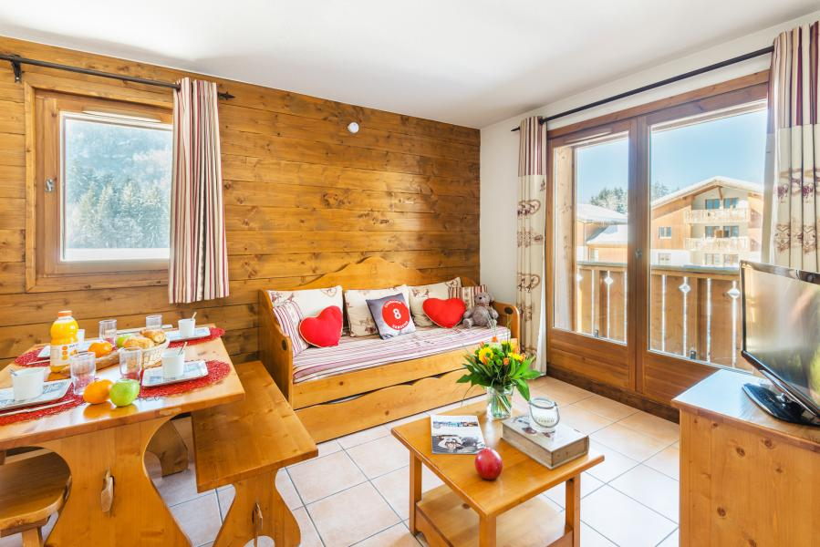Urlaub in den Bergen Résidence Lagrange les Fermes de Samoëns - Samoëns - Kleines Wohnzimmer