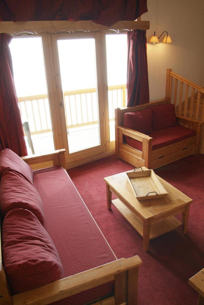 Urlaub in den Bergen Résidence Lagrange les Hauts de Comborcière - La Toussuire - Einfache Klappschlafcouch