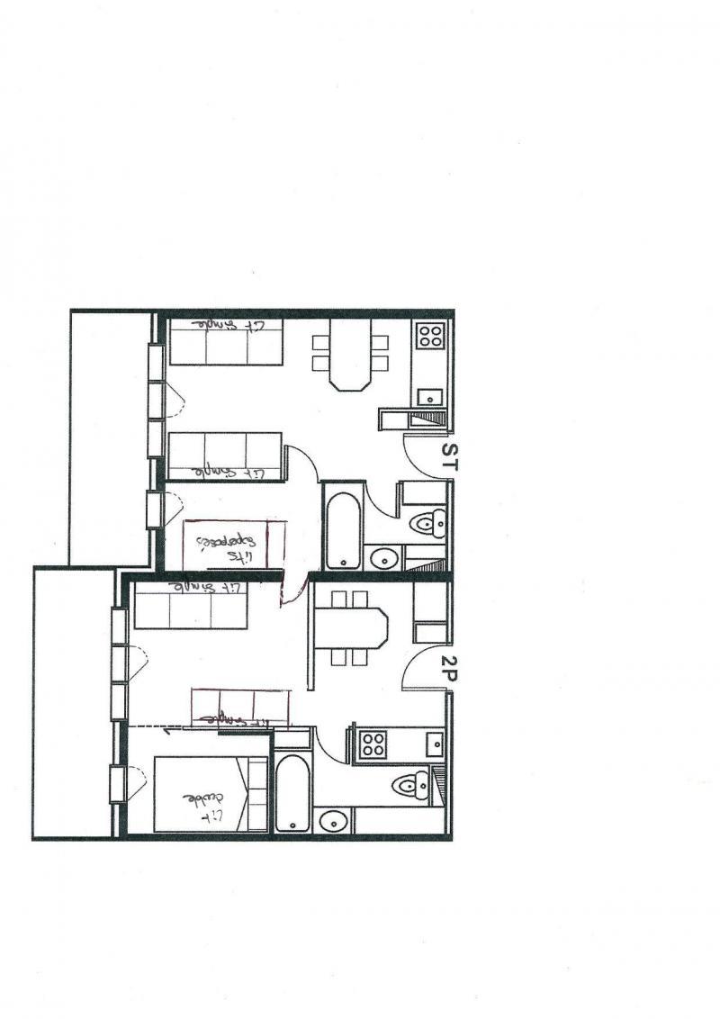 Urlaub in den Bergen 2-Zimmer-Appartment für 6 Personen (427-429) - Résidence le Baccara 2 (l'Epervier) - Montchavin La Plagne