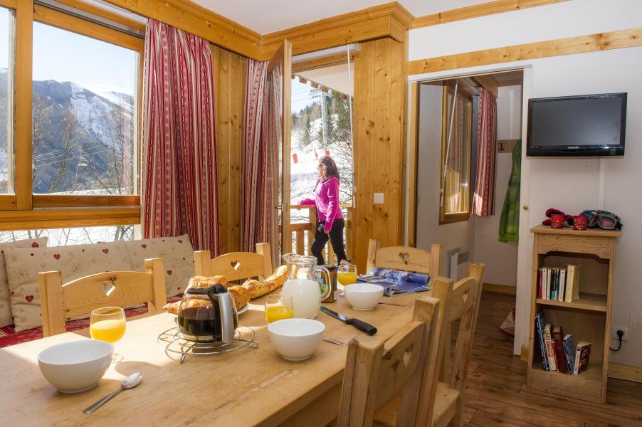 Vacances en montagne Residence Le Balcon Des Neiges - Saint Sorlin d'Arves - Salle à manger