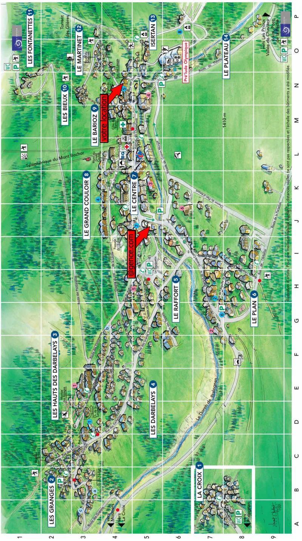 Vacaciones en montaña Résidence le Barioz - Pralognan-la-Vanoise - Plano