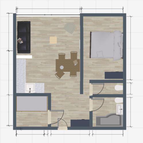 Vacances en montagne Appartement 2 pièces 6 personnes (712) - Résidence le Bec Rouge - Tignes - Plan