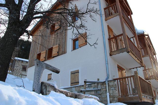 Location au ski Résidence le Belvédère Busseroles - Valfréjus - Extérieur été