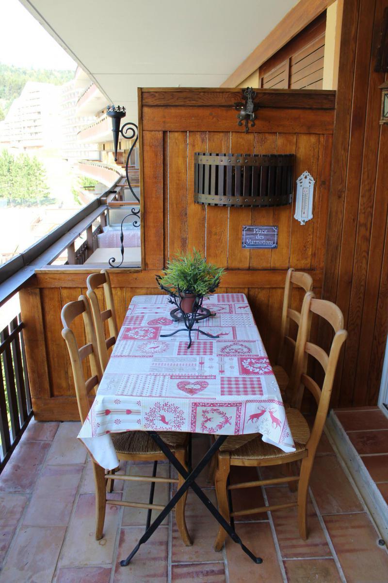 Vacaciones en montaña Estudio para 4 personas (BA0242S) - Résidence le Bois d'Aurouze - Superdévoluy - Balcón
