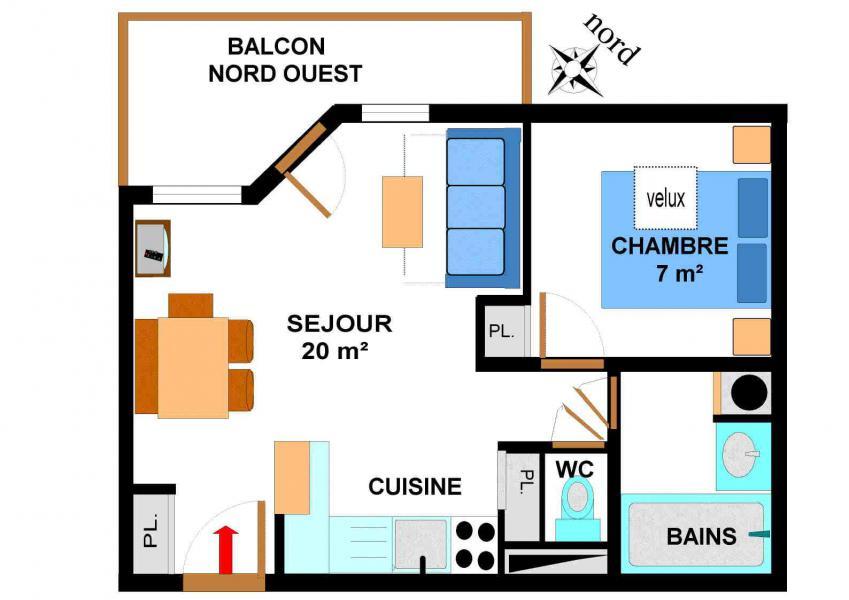 Vacances en montagne Appartement 2 pièces 4 personnes (B51) - Résidence le Bonheur des Pistes - Val Cenis