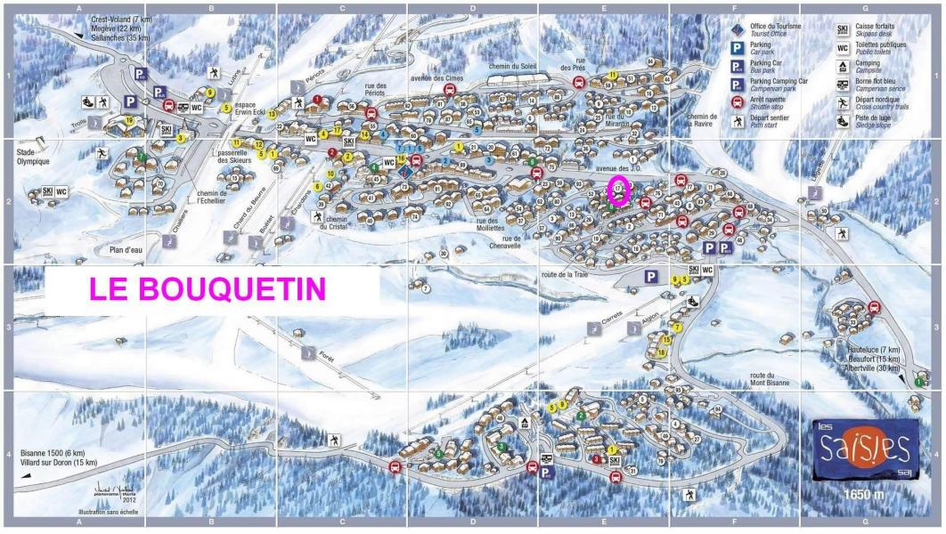 Vacaciones en montaña Résidence le Bouquetin - Les Saisies - Plano