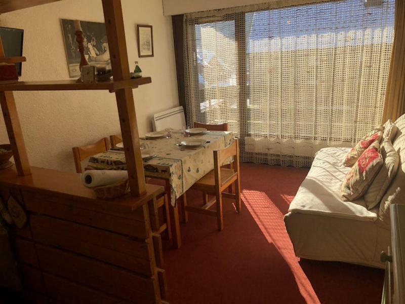 Holiday in mountain resort Studio sleeping corner 5 people (F26) - Résidence le Brulaz - Les Contamines-Montjoie - Living room