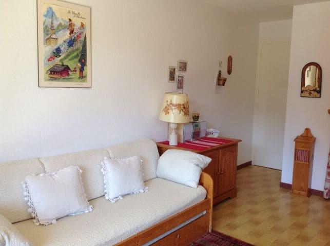Vacaciones en montaña Apartamento 2 piezas para 5 personas (001) - Résidence le Caribou - Châtel - Sofá-cajón