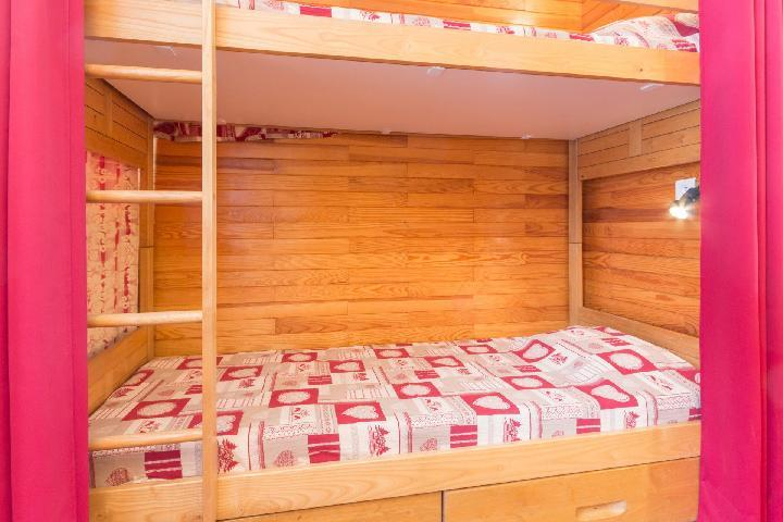 Holiday in mountain resort Studio 4 people (23) - Résidence le Carroley - La Plagne - Bunk beds