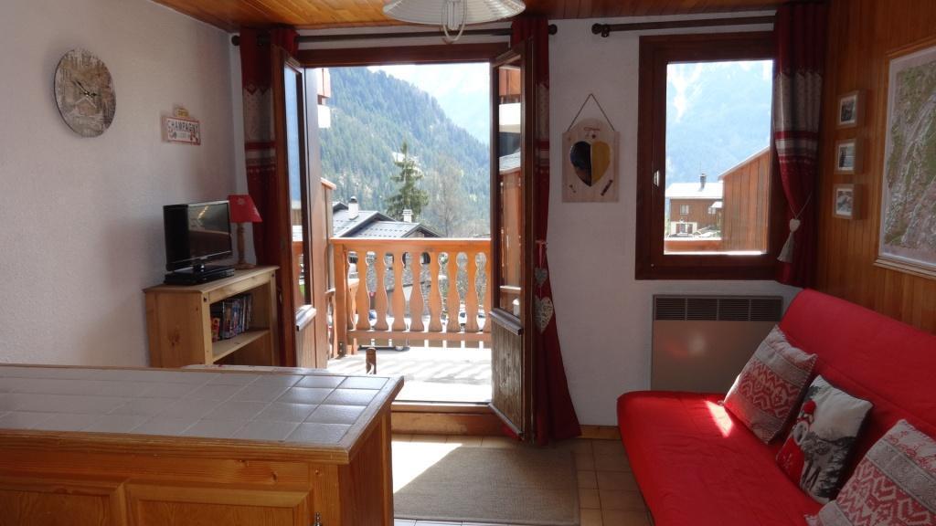 Vakantie in de bergen Studio bergnis 4 personen (028) - Résidence le Centre - Champagny-en-Vanoise - Woonkamer