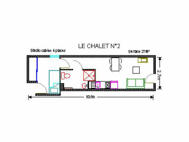 Holiday in mountain resort Studio 4 people (2) - Résidence le Chalet - Gourette