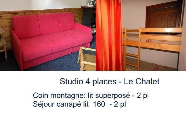 Urlaub in den Bergen Studio für 4 Personen (13) - Résidence le Chalet - Gourette