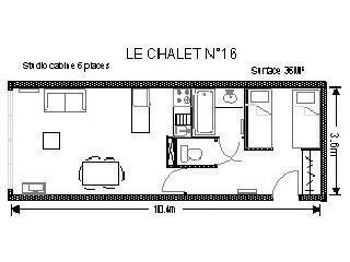Urlaub in den Bergen Studio für 6 Personen (16) - Résidence le Chalet - Gourette