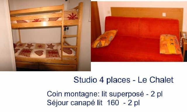 Holiday in mountain resort Studio 4 people (3) - Résidence le Chalet - Gourette
