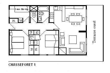 Vacances en montagne Appartement 4 pièces 6 personnes (1) - Résidence le Chasseforêt - Méribel