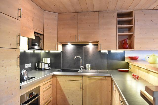 Vacances en montagne Appartement 4 pièces 6 personnes (1) - Résidence le Chasseforêt - Méribel - Cuisine