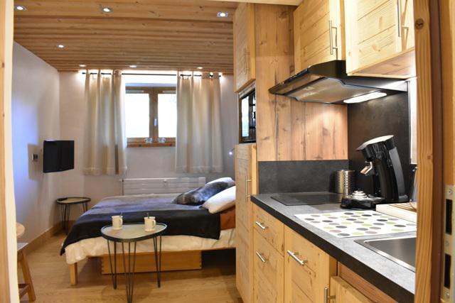 Vacances en montagne Studio 2 personnes (6) - Résidence le Chasseforêt - Méribel - Kitchenette