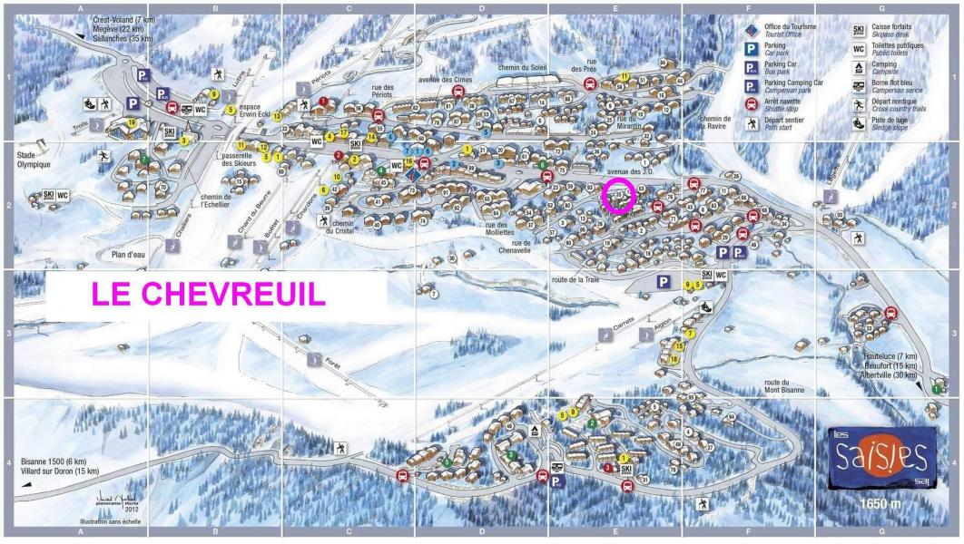 Vacaciones en montaña Résidence le Chevreuil - Les Saisies - Plano