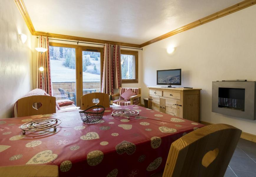 Vacaciones en montaña Apartamento 4 piezas para 6 personas - Résidence le Critérium - Val Cenis - Chimenea