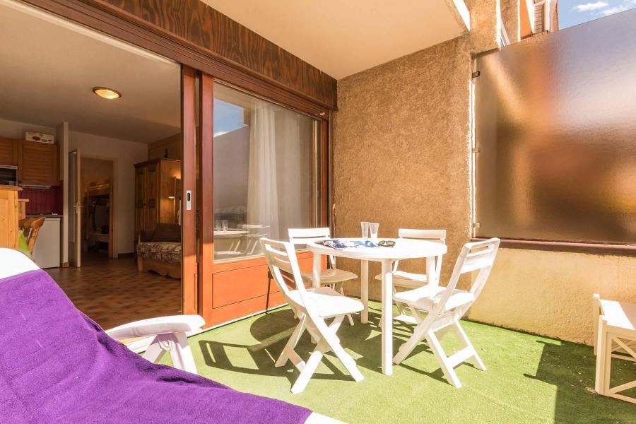 Каникулы в горах Квартира студия со спальней для 4 чел. (NED103) - Résidence Le Forum - Serre Chevalier - Терраса