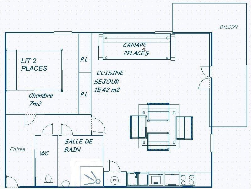 Каникулы в горах Апартаменты 2 комнат 4 чел. (203) - Résidence Le Genevray - Aussois