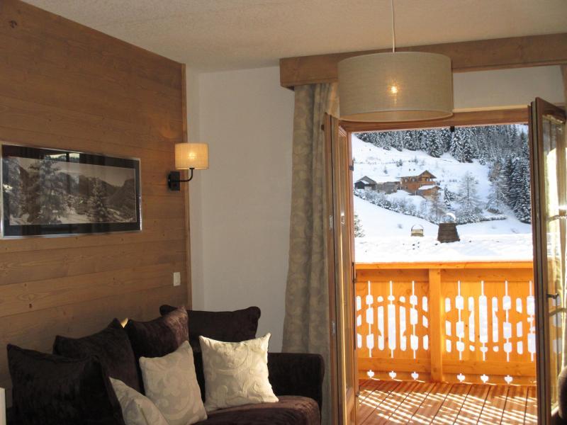 Urlaub in den Bergen Résidence le Grand Ermitage - Châtel - Fenstertür zum Balkon