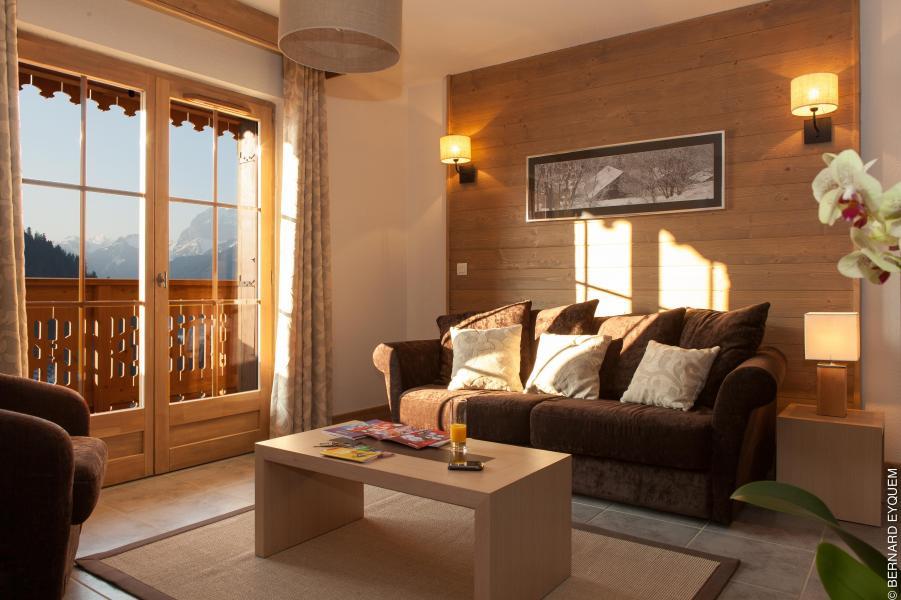 Urlaub in den Bergen Résidence le Grand Ermitage - Châtel - Kleines Wohnzimmer